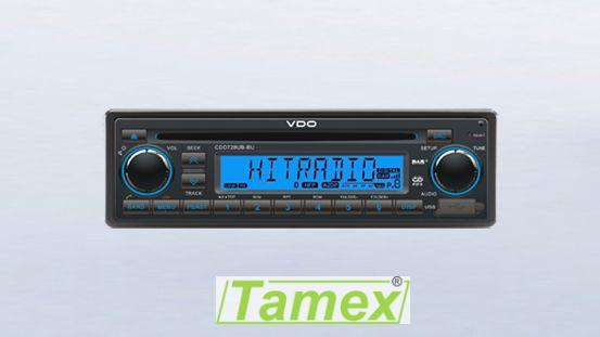 Radio/CD/USB/MP3/WMA/DAB /DAB+/DMB/Bluetooth 12V Modré