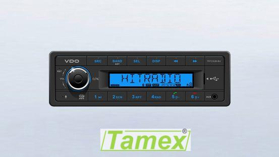 Radio/USB/MP3/WMA/ Bluetooth 24V Modré
