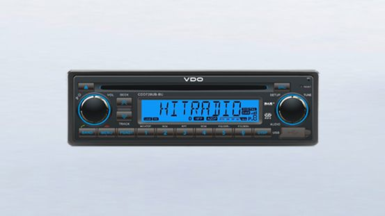 Radio/CD/USB/MP3/WMA /DAB/DAB+/DMB/Bluetooth 24V Modré